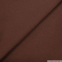 Crêpe polyester lourd marron