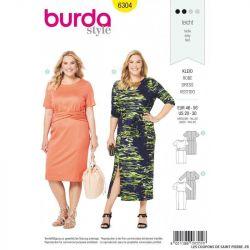 Patron Burda 6304 - Robe drapée