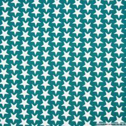 Coton imprimé étoiles fond canard