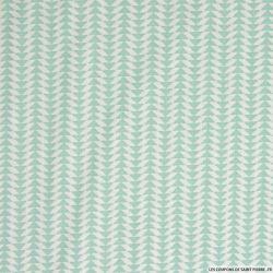 Coton imprimé scandinave vert d'eau