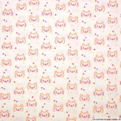 Coton imprimé chat kawaï