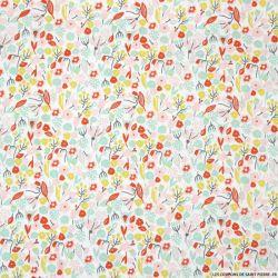 Coton imprimé printemps fleuri