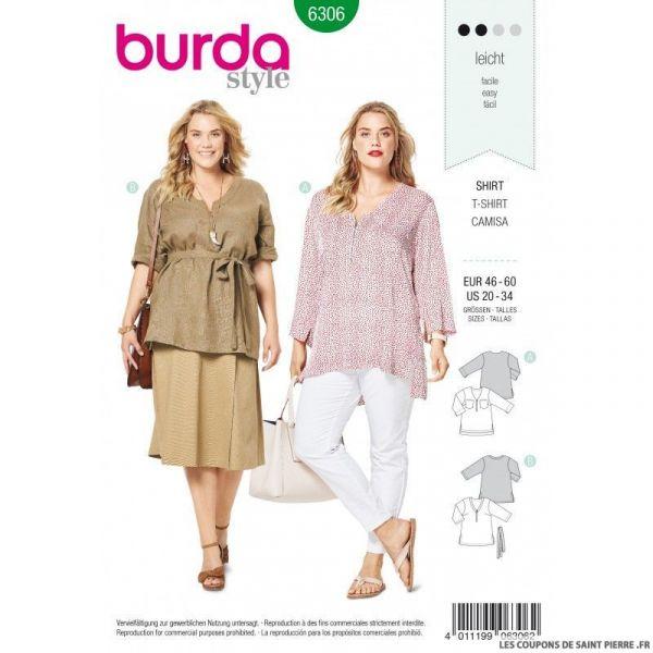 Patron Burda 6306 - Blouse