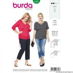 Patron Burda 6307 - Blouse asymétrique