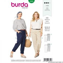 Patron Burda 6309 - Pantalon à poches italiennes