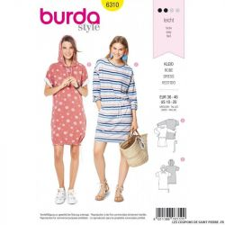 Patron Burda 6310 - Robe Sweat