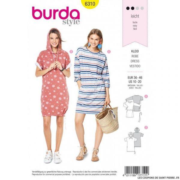 Patron Burda 6310 - Robe Sweat