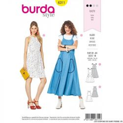 Patron Burda 6311 - Robe à dos nu