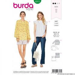 Patron Burda 6313 - Blouse baby doll