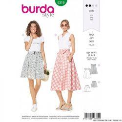 Patron Burda 6319- Jupe à cloche