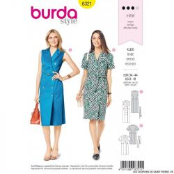 Patron Burda 6321- Robe trench