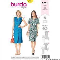 Patron Burda 6320- Robe cintrée