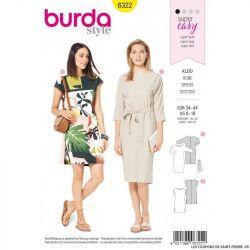 Patron Burda 6322- Robe facile à coudre