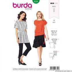 Patron Burda 6323- Blouse trapèze