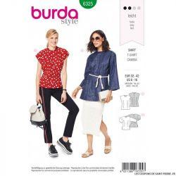 Patron Burda 6324-Tee-shirt épaules larges