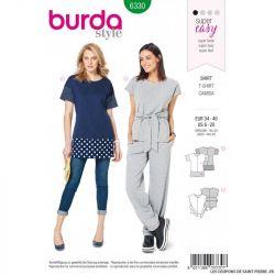 Patron Burda 6330 - Tee-shirt sportswear