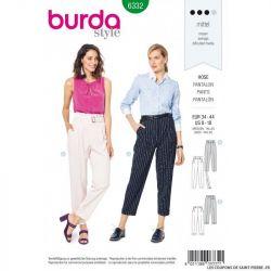 Patron Burda 6332 - Pantalon taille haute