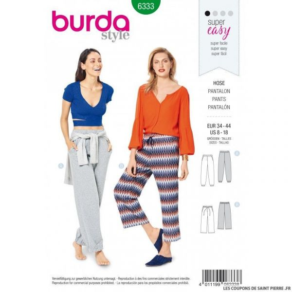 Patron Burda 6333 -