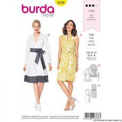 Patron Burda 6338 - Robe portefeuille