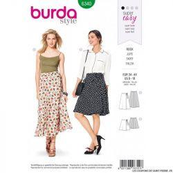 Patron Burda 6340 - Jupe portefeuille
