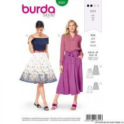 Patron Burda 6341 - Jupe à plis creux