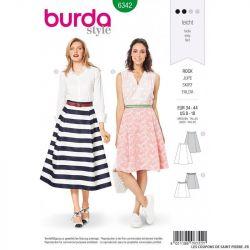 Patron Burda 6342 - Jupe trapèze