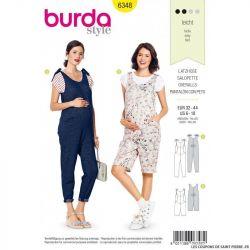 Patron Burda 6348 - Salopette et combinaison de grossesse