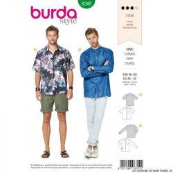 Patron Burda 6349 -Chemsise Homme