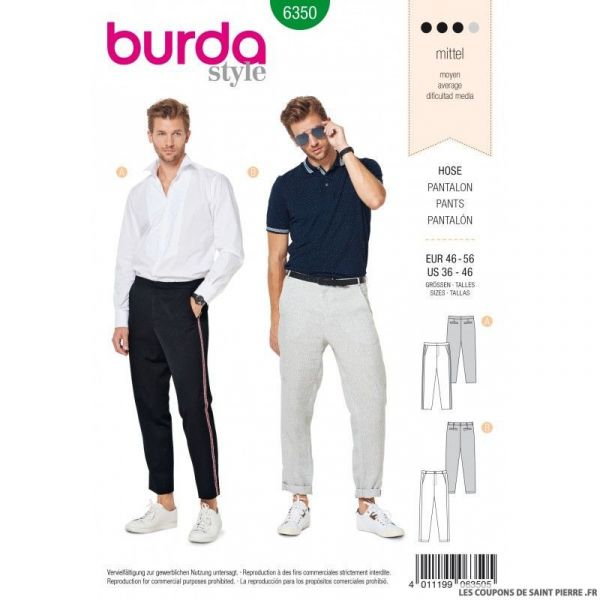 Patron Burda 6350 -