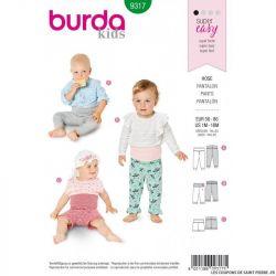 Patron Burda 9317 - Pantalon bébé