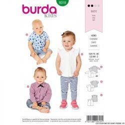 Patron Burda 9318 - Blouse et chemise bébé