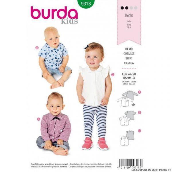 Patron Burda 9318 -