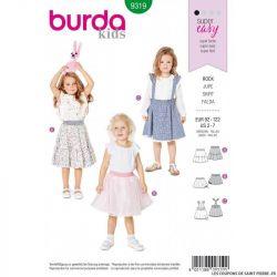 Patron Burda 9319 - Jupe fillette élastique