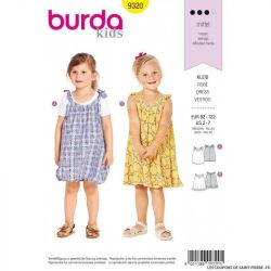 Patron Burda 9320- Robe fillette à bretelle
