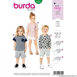 Patron Burda 9322- T-shirt facile