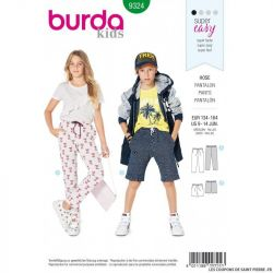 Patron Burda 9324 - Pantalon et short enfant