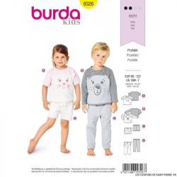 Patron Burda 9326 - Tee-shirt enfant