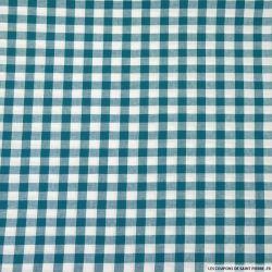 Tissus Coton Vichy 9mm bleu canard