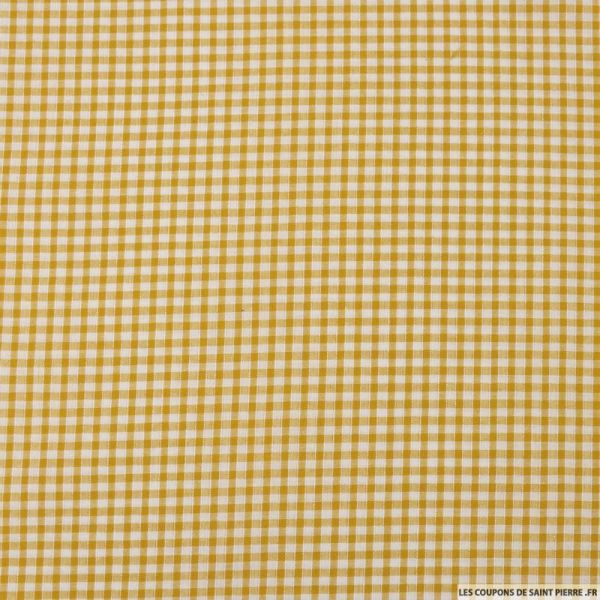 Coton Vichy 3mm moutarde