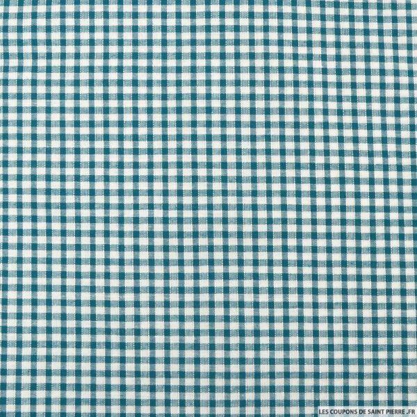 Coton Vichy 3mm bleu canard