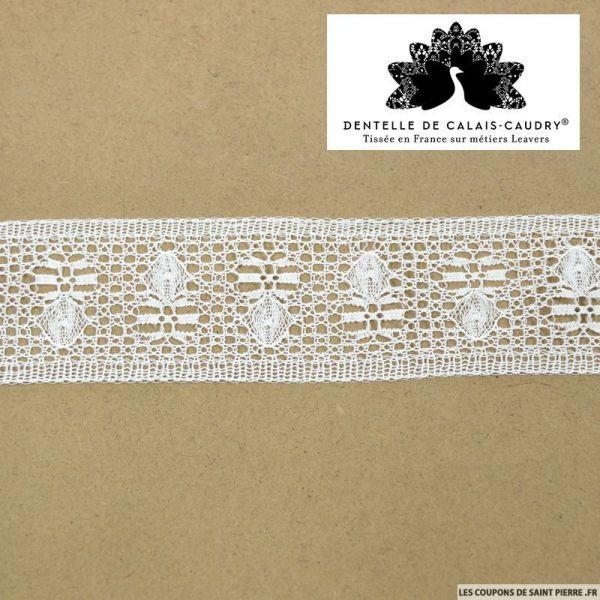Ruban de Dentelle de calais® blanc bijoux au mètre