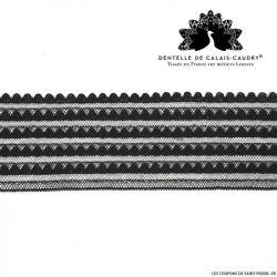Ruban de Dentelle de calais® noir frise graphique au mètre