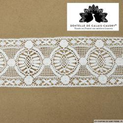 Ruban de guipure de calais® large blanc cassé vintage au mètre