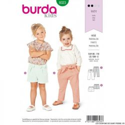 Patron Burda 9323- Pantalon et short à coulisse