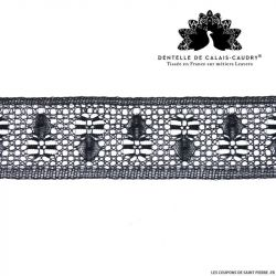 Ruban de Dentelle de calais® noir bijoux au mètre