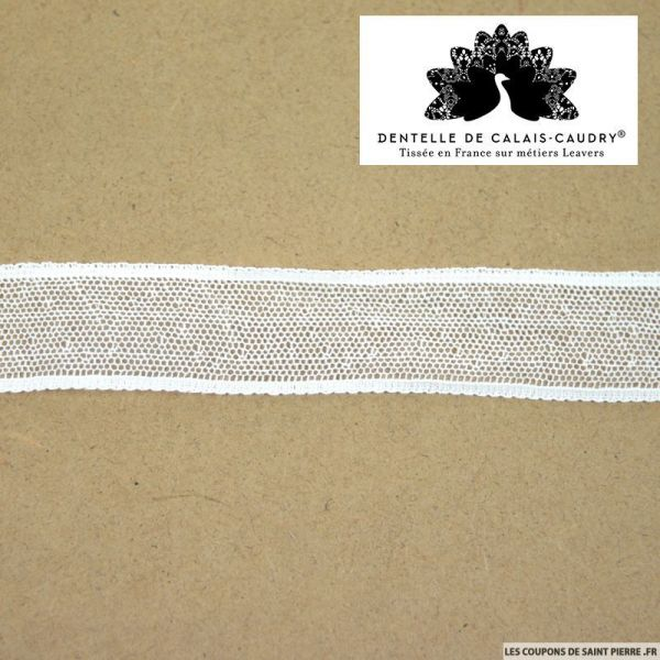 Ruban de Dentelle de calais® blanc minimaliste au mètre