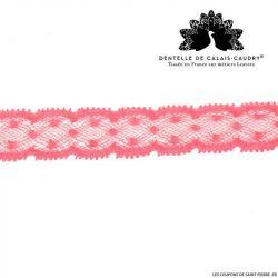 Ruban de Dentelle de calais® rose fine plumetis au mètre