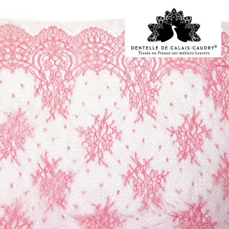 2  m X 5 CM,5 belle  dentelle rose  pastel  de calais des lots dispo non coupés