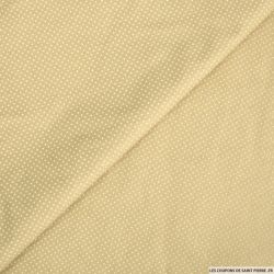 Coton imprimé pois 2mm beige