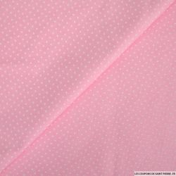 Coton imprimé pois 1mm rose